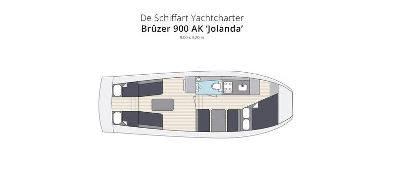 br zer 900 ak jolanda yachtcharter und bootsvermietung holland nr 1 yachtcharter. Black Bedroom Furniture Sets. Home Design Ideas